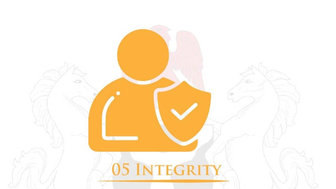 Every citizen shall act according to one's belief and values at all times and in all situations with honesty, truthfulness, including the ability to discern what is right and wrong.